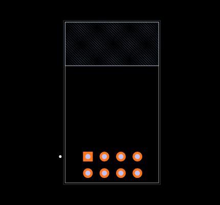 ESP8266-01/ESP-01 Footprint
