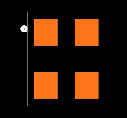 ABM8-13.000MHZ-10-1-U-T Footprint