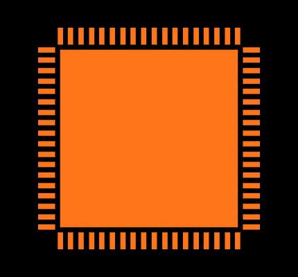 AD9467BCPZ-250 Footprint