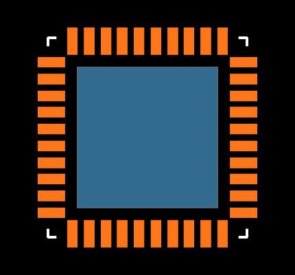 ADUC7020BCPZ62-RL7 Footprint