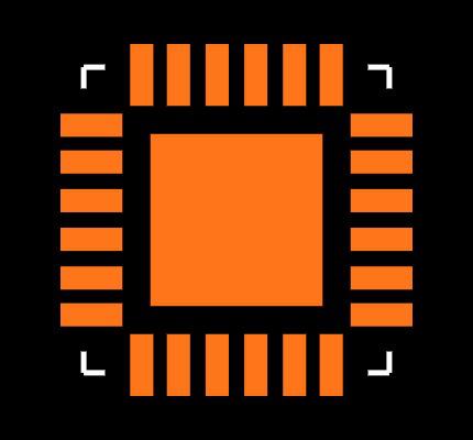 ADL5375-05ACPZ-R7 Footprint