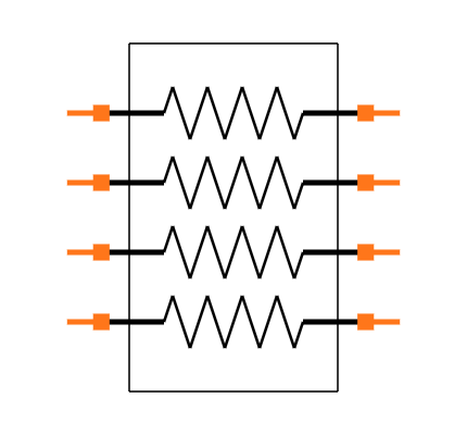 CAY16-102J4LF Symbol