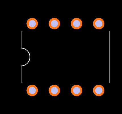 HCPL-2631-000E Footprint