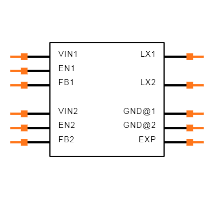PAM2306AYPKE Symbol