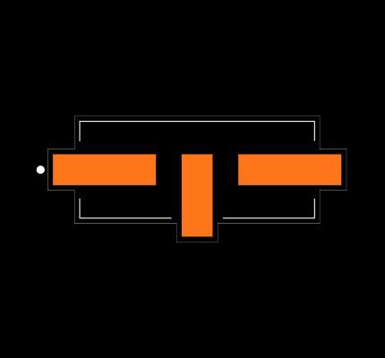 ECS-100-20-5G3XDS-TR Footprint