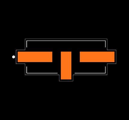 ECS-110.5-20-5G3XDS-TR Footprint