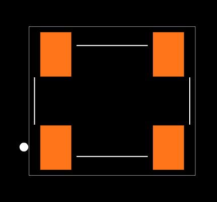ECS-3951M-040-BN-TR Footprint