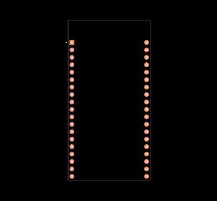 ESP32-DEVKITC-32D Footprint