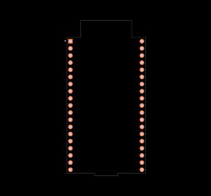 ESP32-DEVKITC-32D-F Footprint