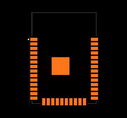 ESP32-WROOM-32 (8MB) Footprint