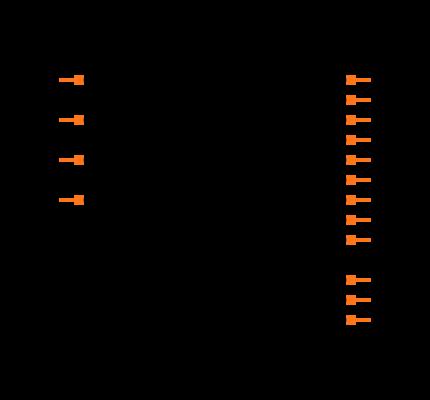 CD74HCT4053M Symbol