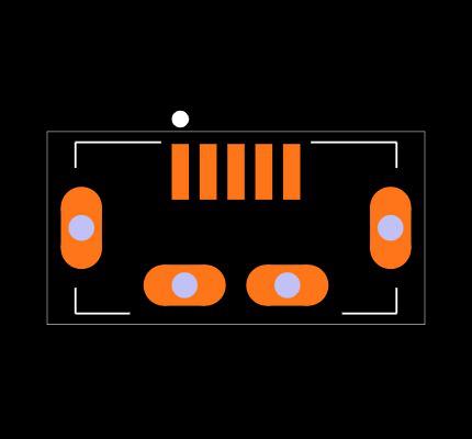 ZX80-B-5P(30) Footprint