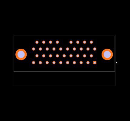 MDM-37SCBRP Footprint