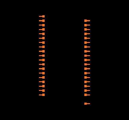 MDM-37SCBRP Symbol