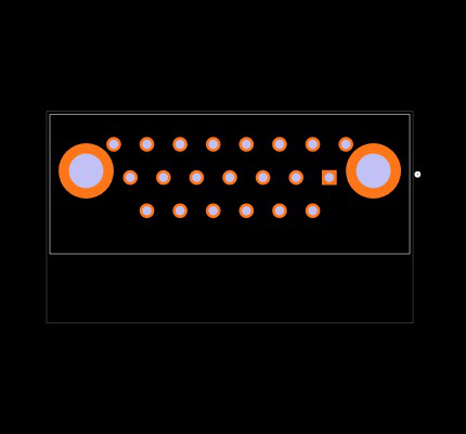 MDM-21SCBRP Footprint