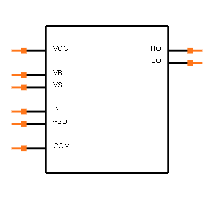 IR2104 Symbol