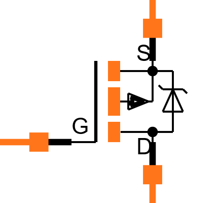 IRF4905 Symbol