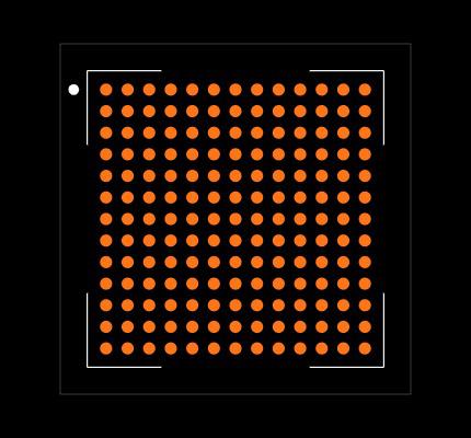 10M08SAU169C8G Footprint