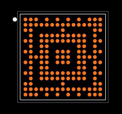 10M08SCM153C8G Footprint