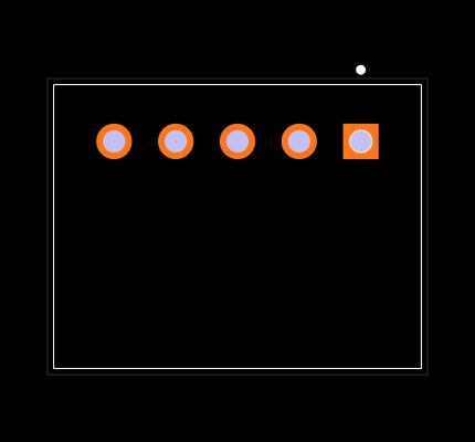S5B-XH-A(LF)(SN) Footprint