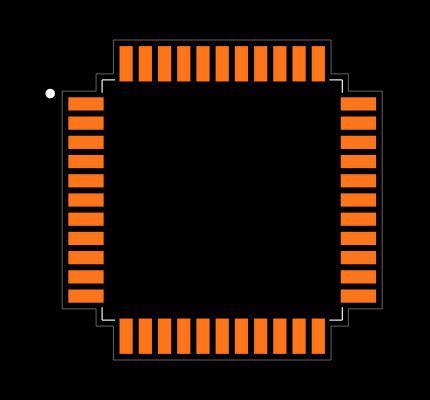 ENC424J600-I/PT Footprint
