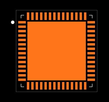 MAX11046ETN+ Footprint