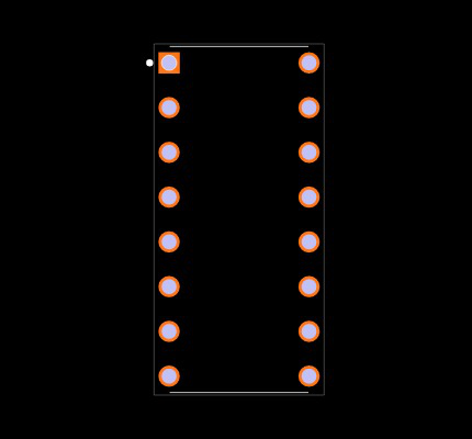 MAX232ACPE+ Footprint