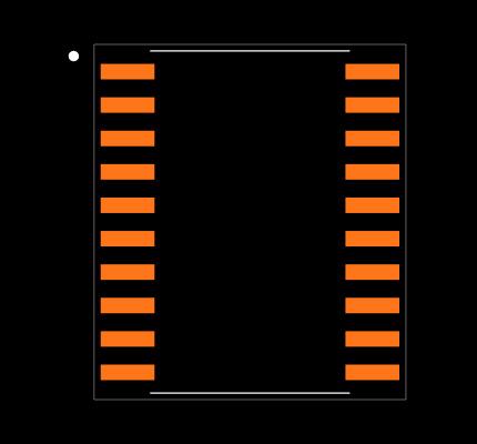 MAX333ACWP+ Footprint