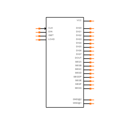 MAX7219CNG Symbol