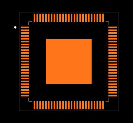 MAX9967BRCCQ+D Footprint