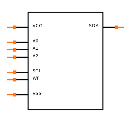 24LC01BT-I/SN Symbol