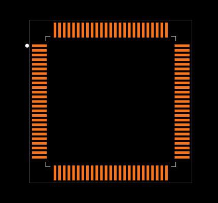ATMEGA2560V-8AU Footprint