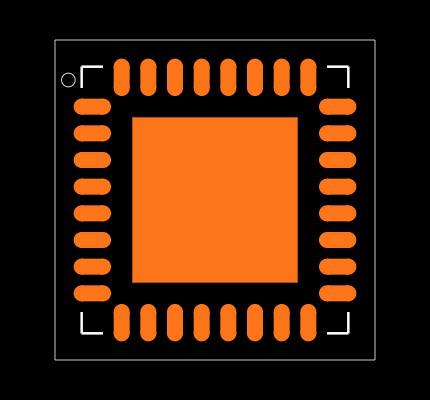 ATMEGA328P-MU Footprint