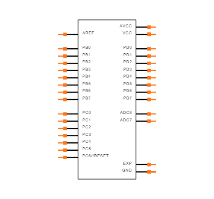 ATMEGA328P-MU Symbol