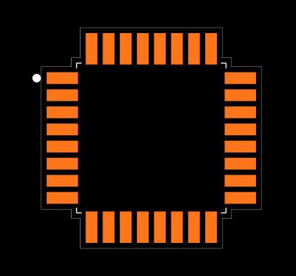 ATMEGA328PB-AUR Footprint