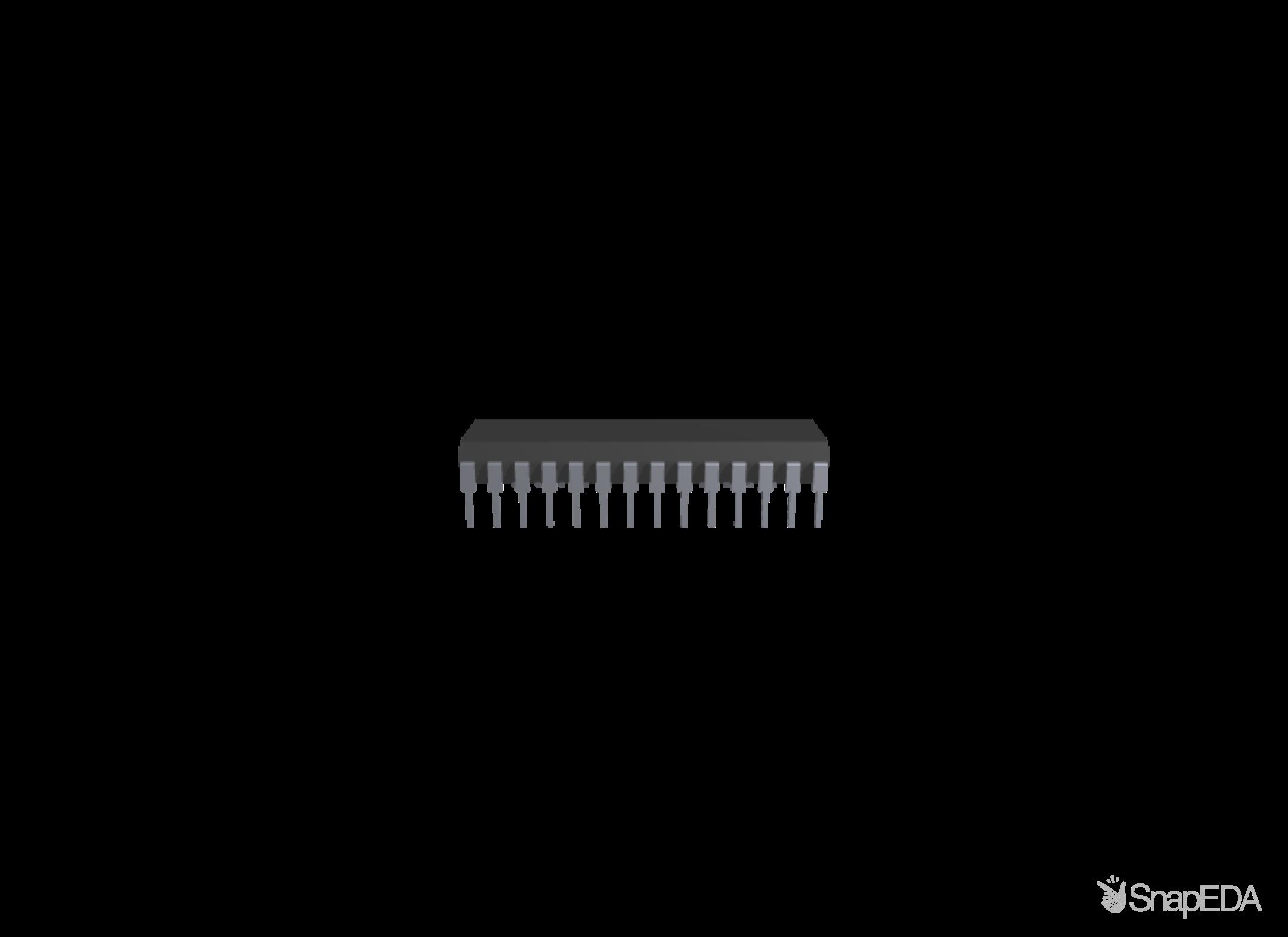 ATMEGA8A-PU 3D Model