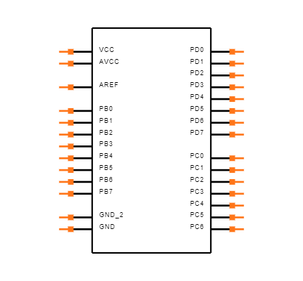 ATMEGA8A-PU Symbol