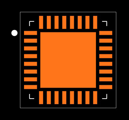 ATSAMD21E16L-MFT Footprint