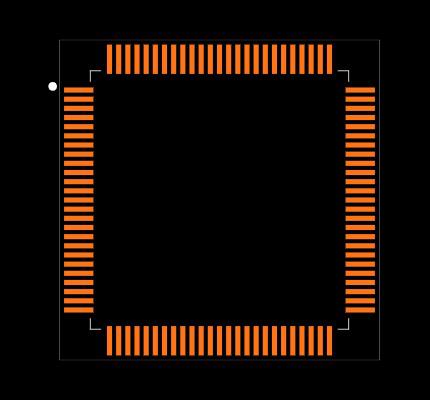 ATXMEGA128A1U-AU Footprint