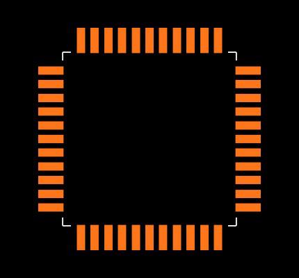 DSPIC30F4011-30I/PT Footprint