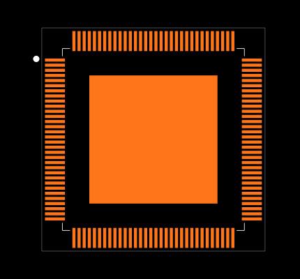 KSZ9897RTXC-TR Footprint