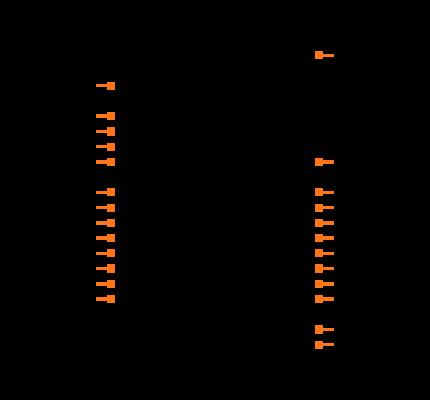MCP23S18T-E/MJ Symbol
