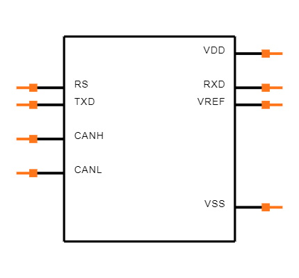 MCP2551-I/SN footprint & symbol by Microchip | SnapEDA