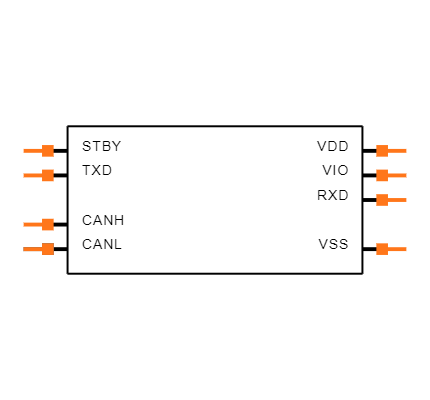 MCP2562T-E/SN Symbol