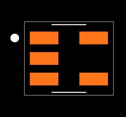 MCP3221A7T-E/OT Footprint