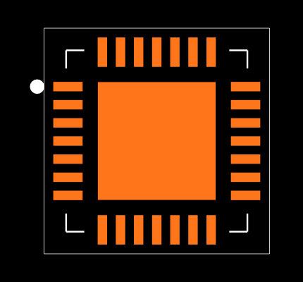 MCP39F511-E/MQ Footprint