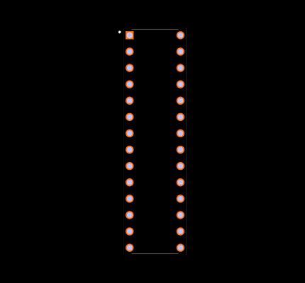 PIC16F73-I/SP Footprint