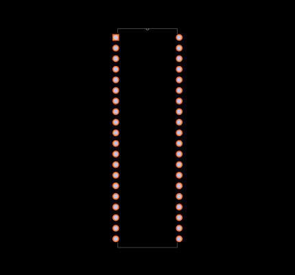 PIC16F74-I/P Footprint