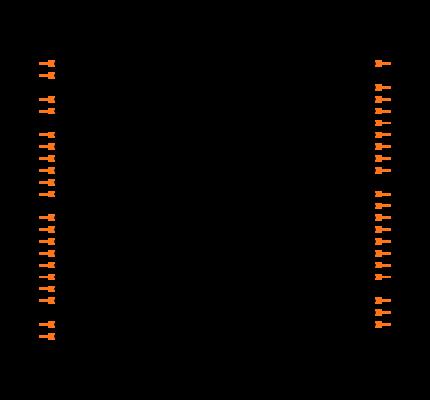 PIC16F74-I/P Symbol