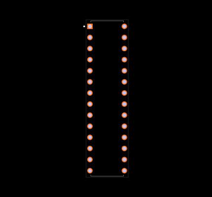 PIC18C252-I/SP Footprint